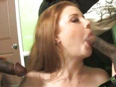 Slut Cherry Poppens sucks on these juicy black cocks
