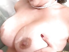 Super slut Selena Castro gets tits pumped and covered in hot goo