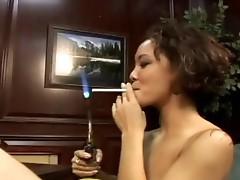Big tit asian suck cock