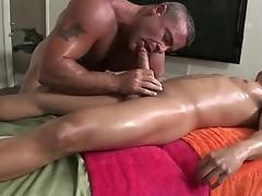 Fine man gets superb gay rub