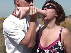 Horny Milf acquires her curly muf fucked