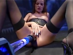 Long haired bitch slammed by a big Machine knob
