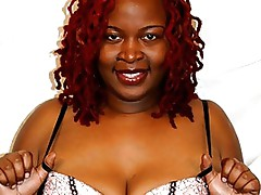 Afrodisia has the rather sexy name, but that plumpy black babe is not pulling any punches. She is inside the mood to shag all night long, and she star