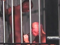 Interracial gay fucking inside the prison cell