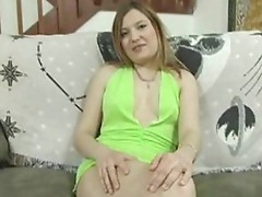 Redhead euro babe toys involving her shaved box onto camera