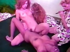 Hypnotized girls lick each other
