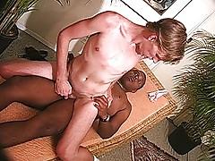 Black cock into white ass