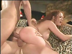 Audrey Hollander double teamed and creamed