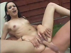 Fucking and pissing in the garden