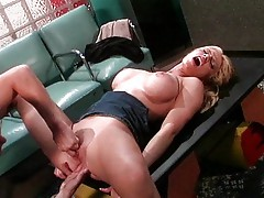 Melissa West opens both holes for dick