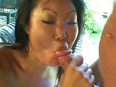 Waking the horny Asian
