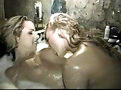 Lesbians caught having sex in bathtub