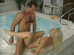 Sensual sex in whirlpool