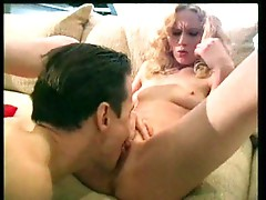 Curly blond babe using pussy and ass