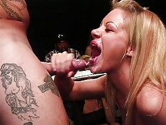 Blondes getting wet and spermed