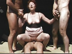 Granny and her three dicks