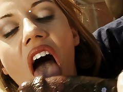 Sweet babes blowing for cum