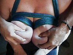 Big boobs bound and teased