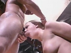 Blowing and cumming on the set