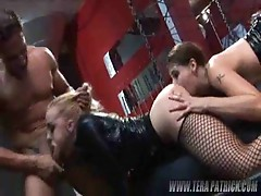 Wild blonde sucks and becomes licked