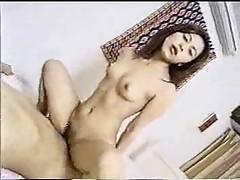 Japanese girl riding