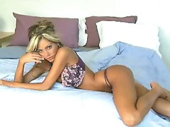 Sexy Mandy alone in her bed