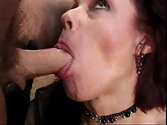 Mature woman sucking her lover