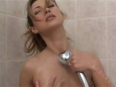 Taking a relaxing shower