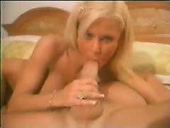 Chloe Jones striptease and blowjob