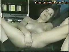 Gorgeous amateur pleasuring herself