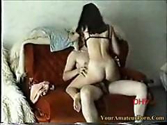Amateursex on couch 1