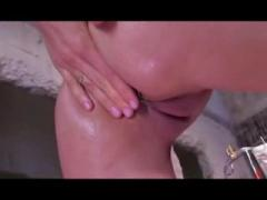 Cleaning the ass deep anal enema