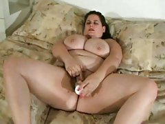 BBW touching her pussy