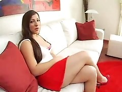Hot  Little  Latin  Brunette  Girl With  A Nice Round Ass Fucks  In  Multiple  Positions  .