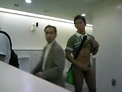 CMNM - Guy Masturbating in Public Toilets !