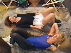 Nina Hartley And Unknown Woman Lesbian Scene 1