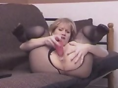 Slutty Sammi Pantyhose Toy Masturbations ST69