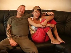 Big Natural Titted Euro girl feels it good