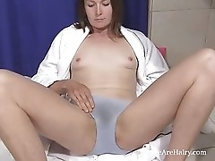Charlotte B fucks her sloppy moist hairy pussy