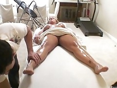 Busty Blonde Tit Massagep3
