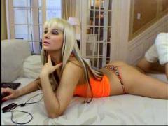 Sexy webcam milf in lingerie and cheerleader uniform