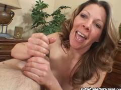 Sexy Mom Giving Hanjob