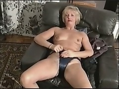 Hairy Mature Strips with superb commentary