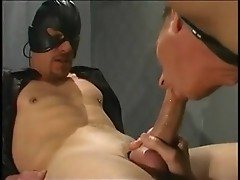 Fetish group sex, bj & anal of horny prison gays
