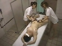 Erotic massage with oil in Japanese lesbian brothel