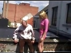 Debauched ol crumb seduces a tasty lily-white blonde and gets her done to the extremes!