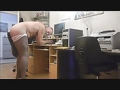 spanking of a kinky old tranny-faggot