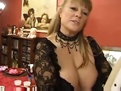 Fat slut is double penetrated and double facialized