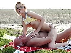 Girl caught masturbating