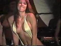 Bikini contest - girl shows her nipples - oops